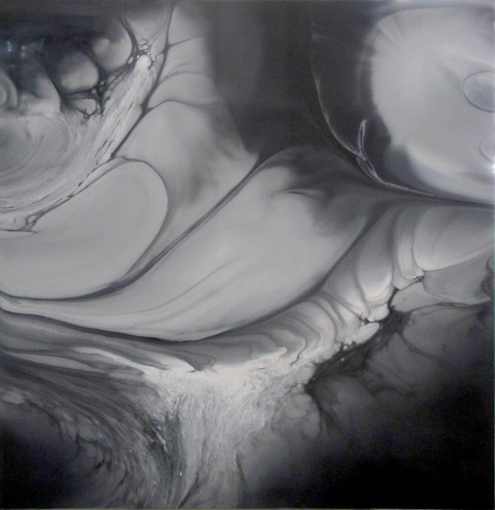 "Untitled  Patrick Fagerberg FA199 Acrylic on Enamel Dibond 57"" x 57"""