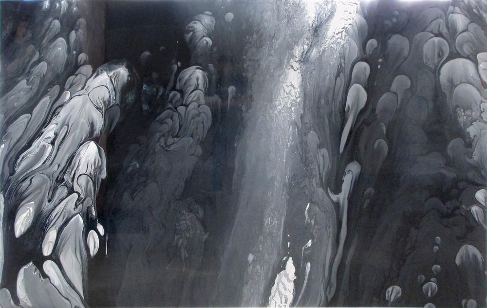 "Untitled  Patrick Fagerberg FA200 Acrylic on Enamel Dibond 46.5"" x 72"""