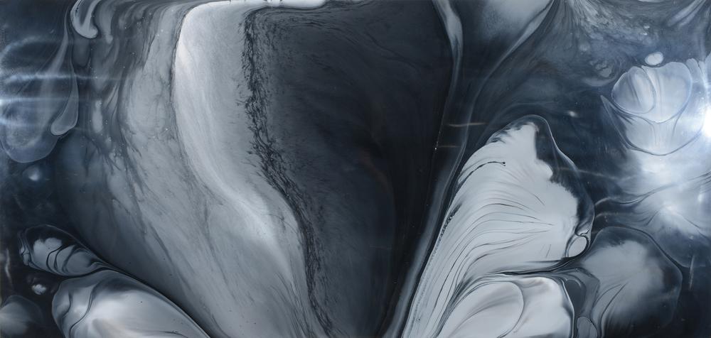 "Untitled  Patrick Fagerberg FA202 Acrylic on Enamel Dibond 45"" x 93"""
