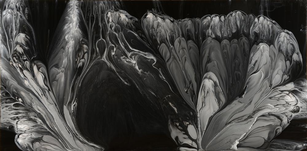 "Untitled  Patrick Fagerberg FA204 Acrylic on Enamel Dibond 53.5"" x 109"""