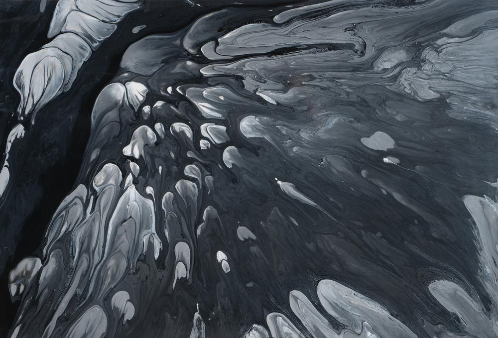 "Untitled  Patrick Fagerberg FA206 Acrylic on Enamel Dibond 30"" x 44"""
