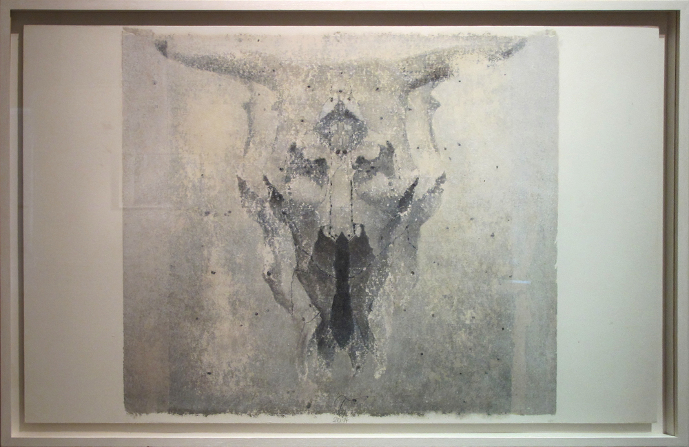 "Skull I  Eric Peters ES209 Oil and Watercolor on Paper Hybrid 32"" x 47"""