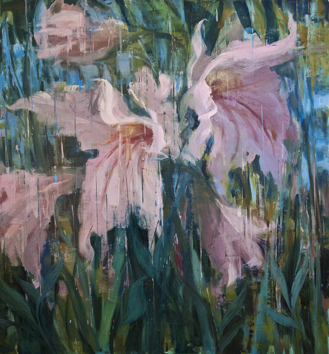 "Weeping Gladiola  Joseph Adolphe JPH131 Oil on Canvas 62"" x 58"""