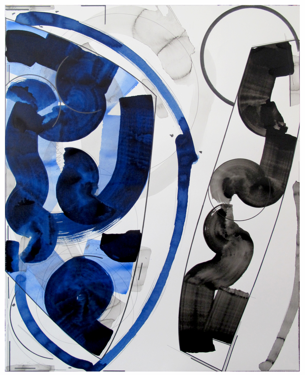 "Anchorage  Doug Semivan SE283 Acrylic on Paper 47"" x 37"""