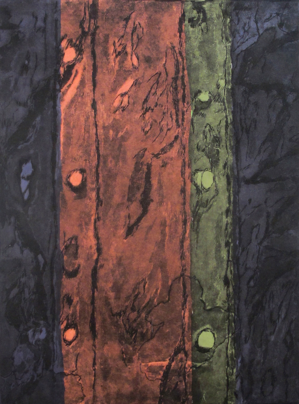 Volga Locks 4  Dorothy Dempsey DO 235 Etching/Collage 30'' x 22.25''