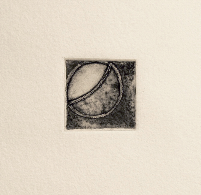 Conversations With the Moon 6  Dorothy Dempsey DO 254 Intaglio with Chine Colle 14'' x 14''