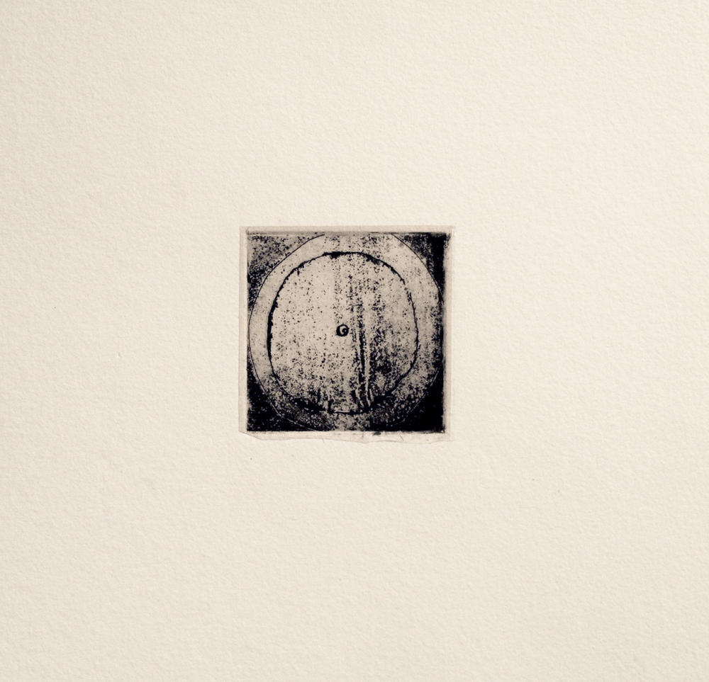 Conversations With the Moon 8  Dorothy Dempsey DO 256 Intaglio with Chine Colle 14'' x 14''