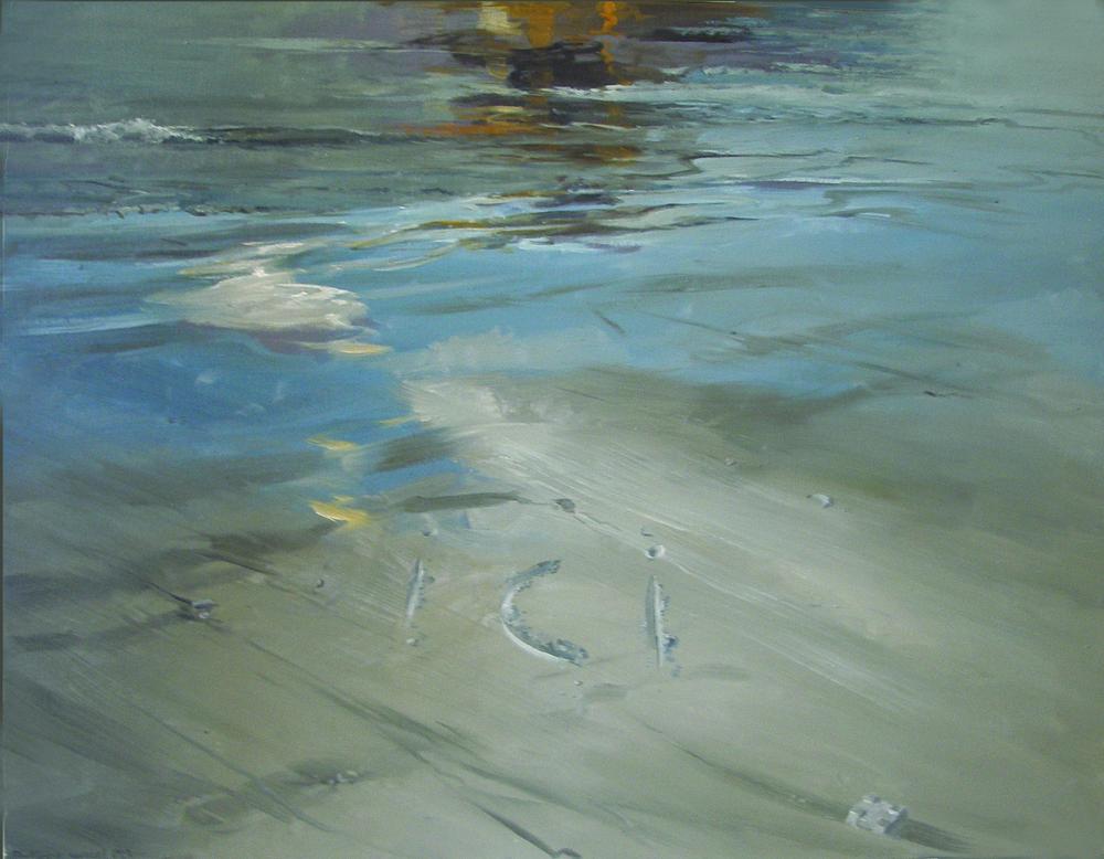 "Ici- Maree basse  Philippe Garel PR 121 Oil on Canvas 51"" x 64"""