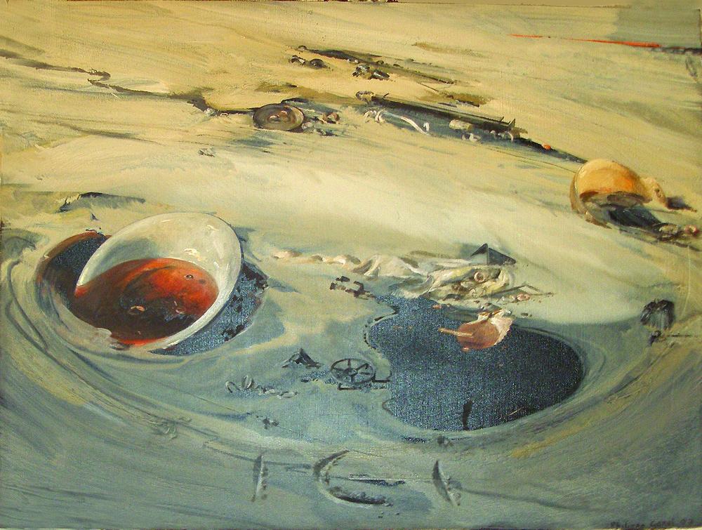 "Nympheas jour  Philippe Garel PR 126 Oil on Canvas 51"" x 64"""