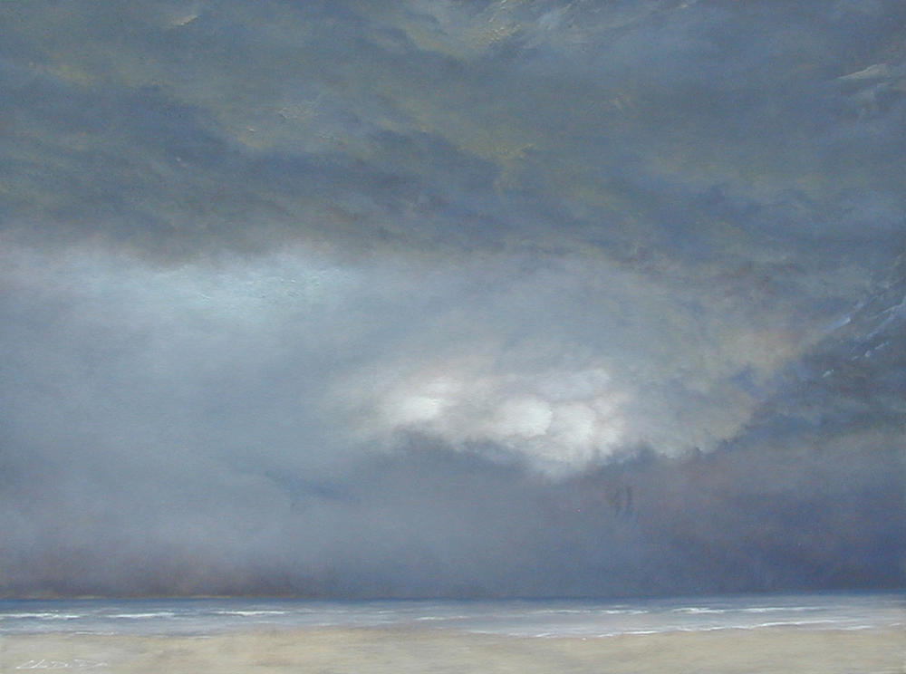 "Brooding  Chris De Dier DD 114 Oil on Canvas 30"" x 40"""