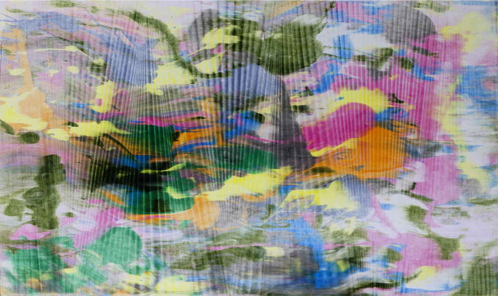 "Untitled  Thomas Zitzwitz ZW174 Acrylic on Canvas 19"" x 32"""