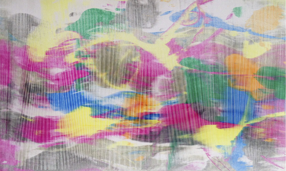 "Untitled  Thomas Zitzwitz ZW175 Acrylic on Canvas 19"" x 32"""