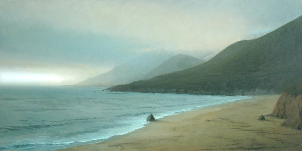 "From the Shore II  Bruce Brainard BR955 Oil on Canvas 30"" x 60"""