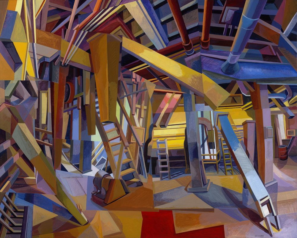 "Mill 3  Joan Steinman ST962 Acrylic on Canvas 48"" x 60"""