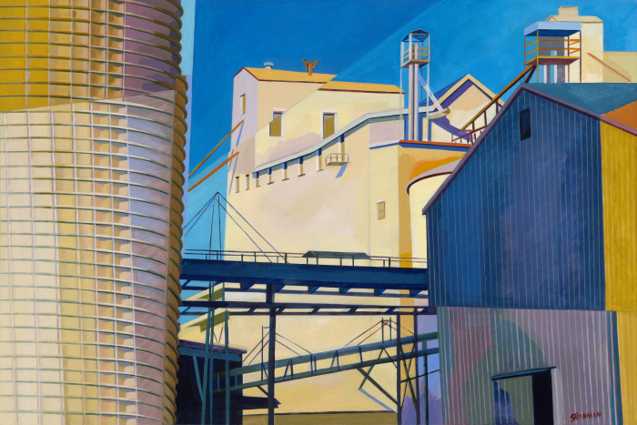 "Mill 8  Joan Steinman ST967 Acrylic on Canvas 24"" x 36"""