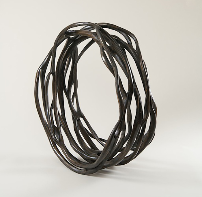 "Charcoal Cycle III  Caprice Pierucci CG254 Pine 32"" x 32"" x 16"""