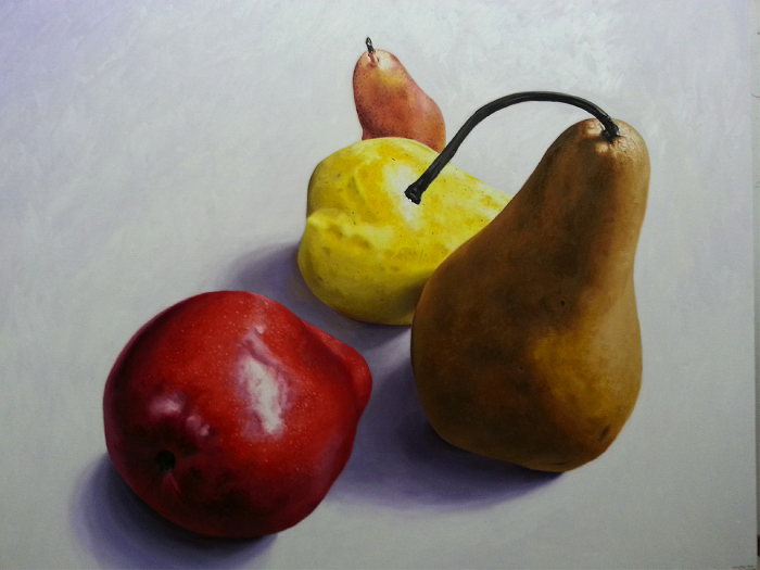 "Pears II  Fernando Casas CA354 Oil on Canvas 48.5"" x 60"""