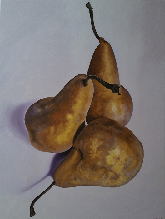 "Pears V  Fernando Casas CA357 Oil on Canvas 70"" x 53.5"""