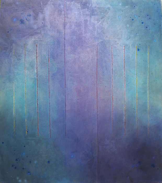 "Untitled (Blue)      Robert Rector RE4725 Acrylic on Canvas 48"" x 42"""