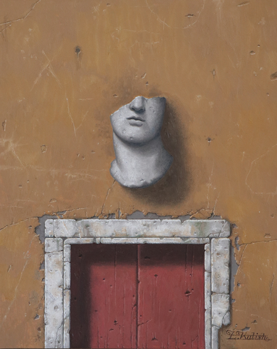 "A Sculpture Fragment  Lionel Kalish KA521 Oil on Wood 20"" x 16"""