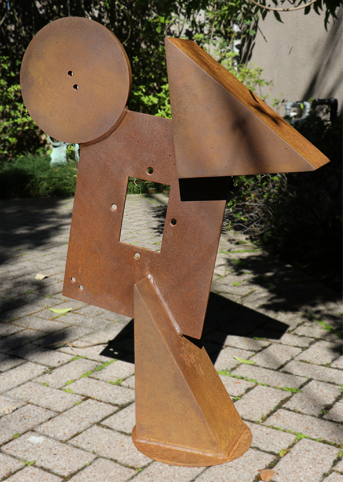 "Untitled  Doug Semivan SE284 Fabricated Steel 26.5"" x 28"" x 8"""