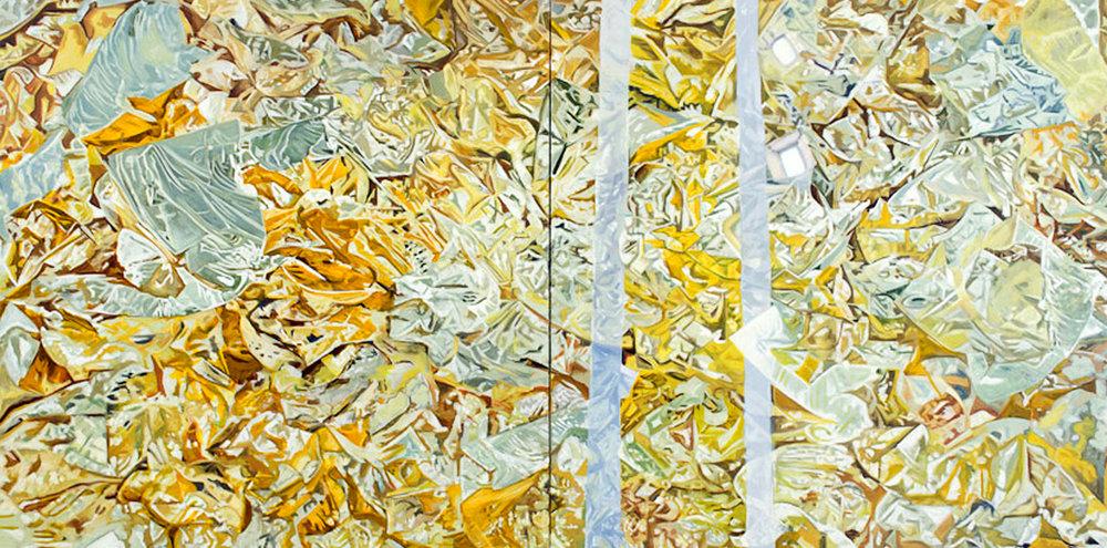 """Re-Kleined  Leslie Parke LP235 Oil on Canvas 36"""" x 72"""""""