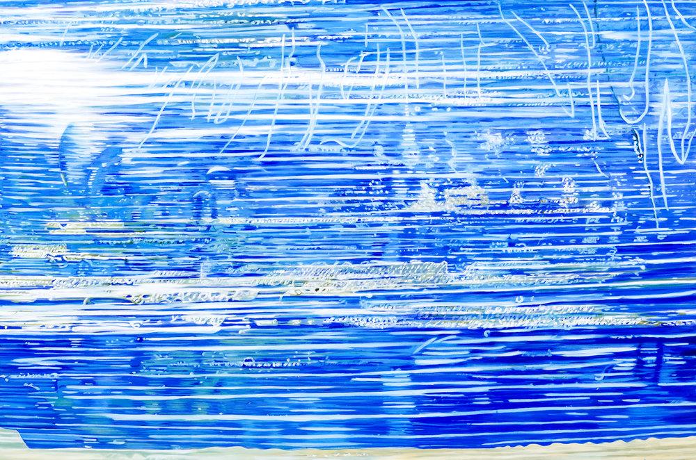 """Pool Chemicals  Leslie Parke LP249 Oil on Canvas 40"""" x 60"""""""