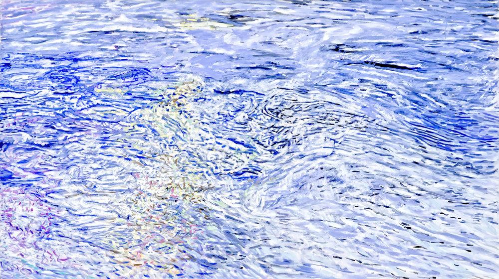 """Battenkill Morning  Leslie Parke LP254 Oil on Canvas 46.5"""" x 82"""""""