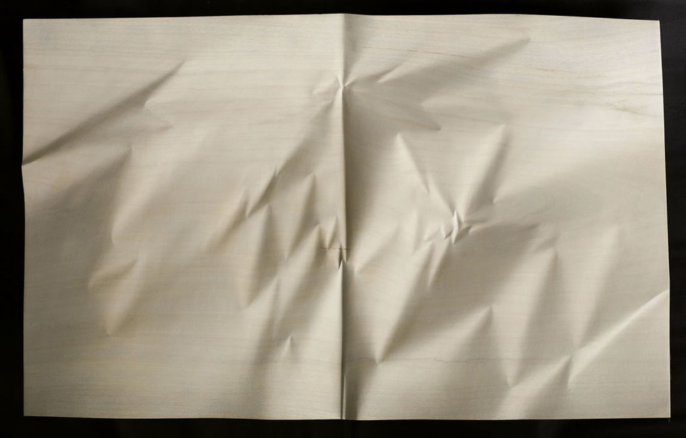 "Papier codex GO n°4  Christian Renonciat Ayous Wood 29"" x 46.5"""