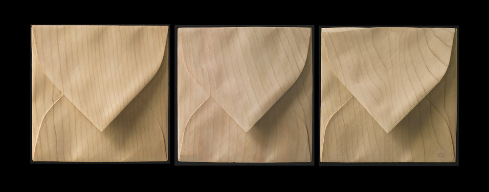 "Enveloppe carrée x 3  Christian Renonciat Ayous Wood 7"" x 7"" (each)"
