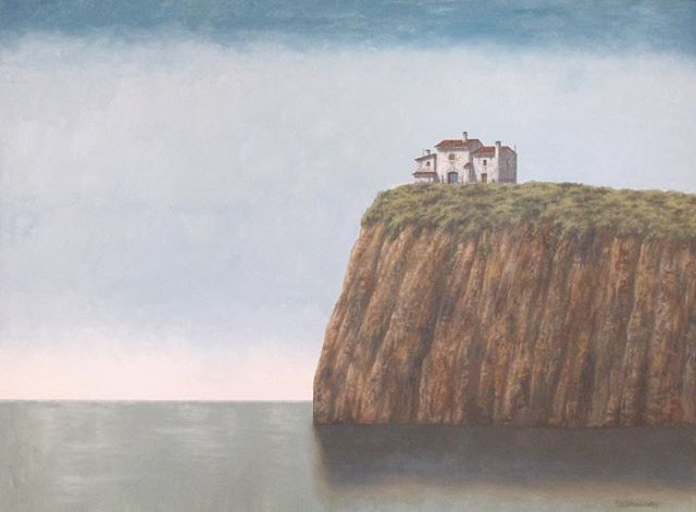 "The Lone House, Lionel Kalish, 2008, Oil on Canvas, 30"" x 40"""