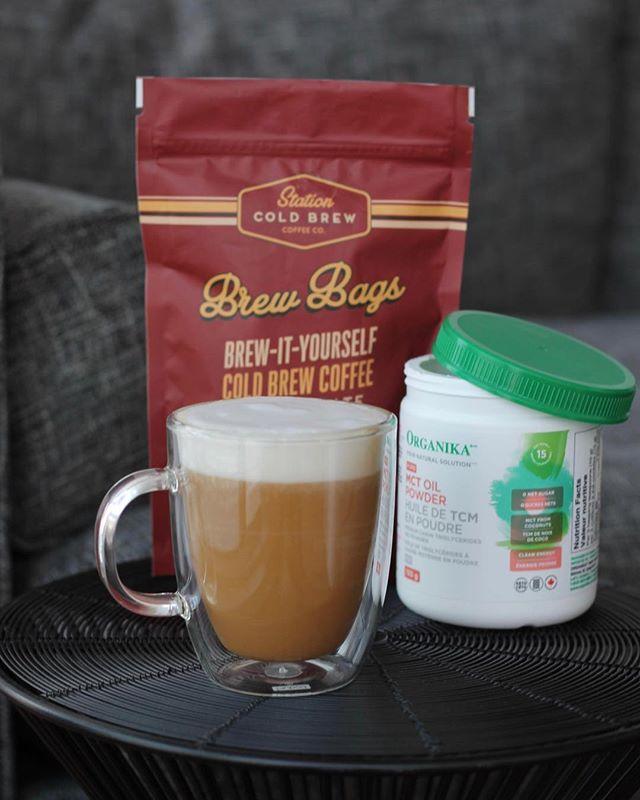 MCT & Coffee 😍 No better pairing // @organikahealth