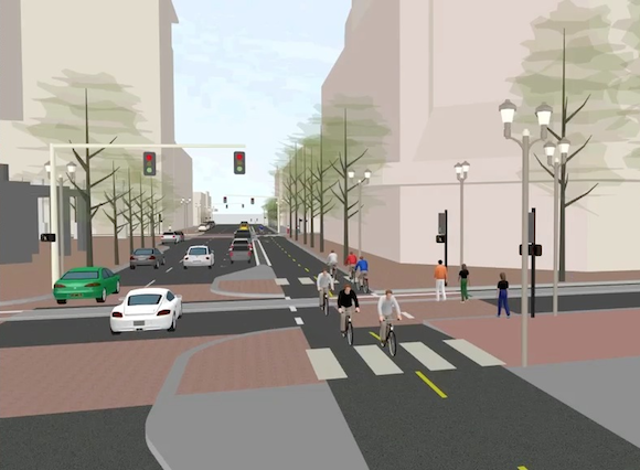 Broadway cycletrack