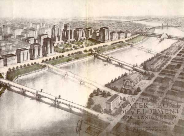 A vision of waterfront development from 1932. ( Via )