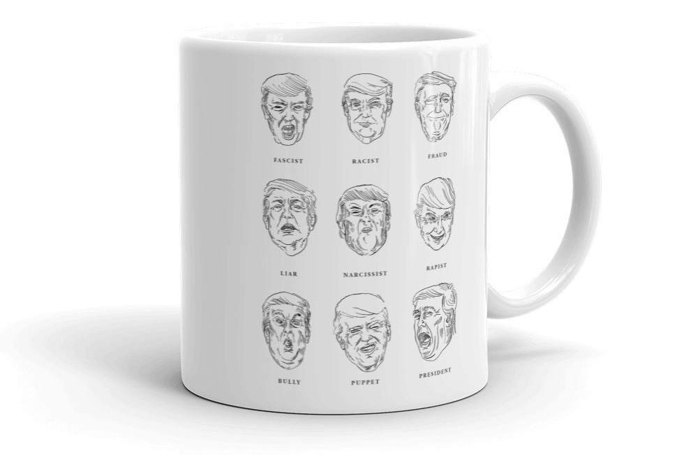 Faces of Trump Mug