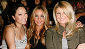 Janice Lee, Amanda Bynes and Kira Costello