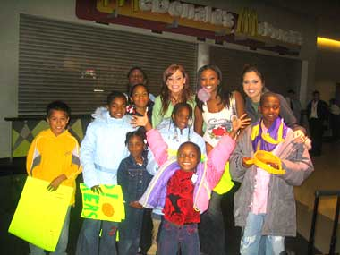 The group with the Laker Girls.