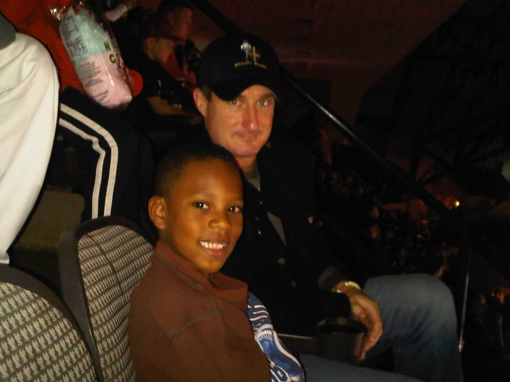 Magic and Joe at Nuclear Cowboyz freestyle motorcross show.