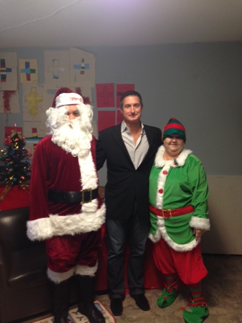 Santa, Joe and Sheryl