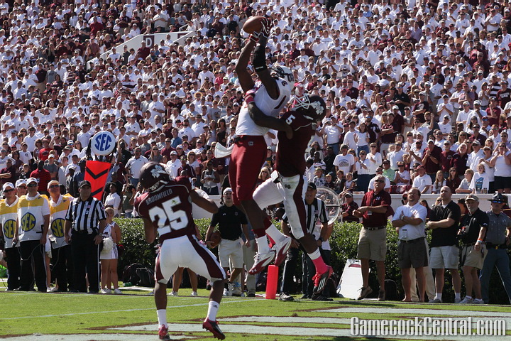 Jeffery caught the game-winning touchdown at Mississippi State in 2011.
