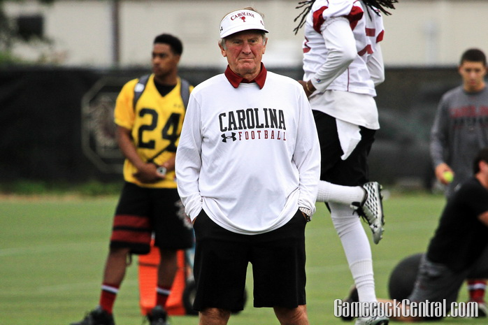 Staff photo by Paul Collins: Spurrier went 10-1 against the Gamecocks as a head coach.