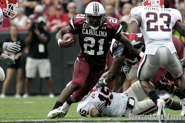 Staff Photo by Chris Gillespie: In his SEC debut, Marcus Lattimore ran for 182 yards and two touchdowns.