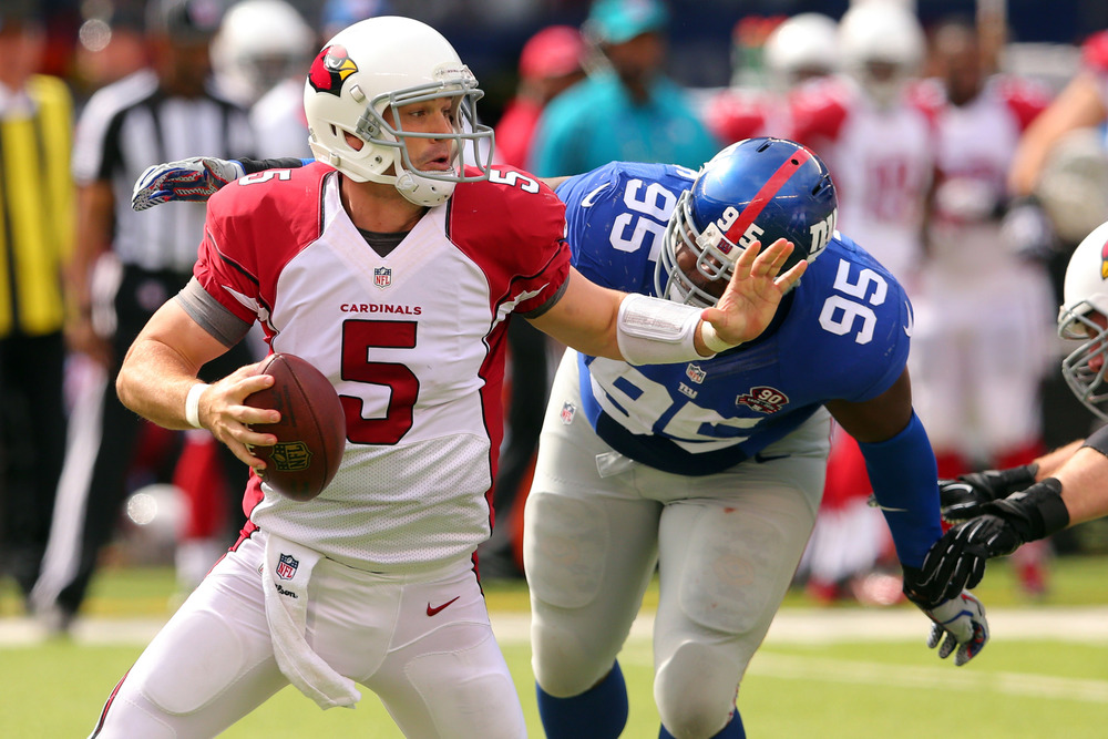 This guy's gonna be the quarterback for the Cardinals. Drew freaking Stanton, can you believe it?!  Photo by: USATSI