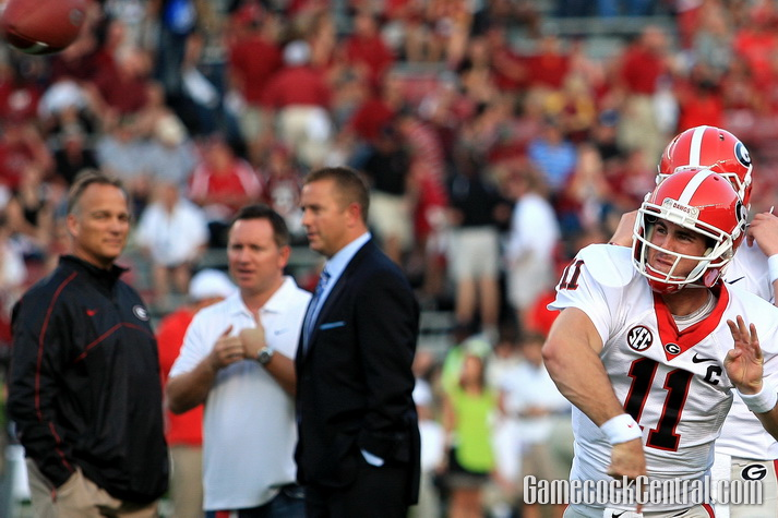 Staff Photo by Paul Collins: Aaron Murray and the Bulldogs had won 15 consecutive regular-season games.
