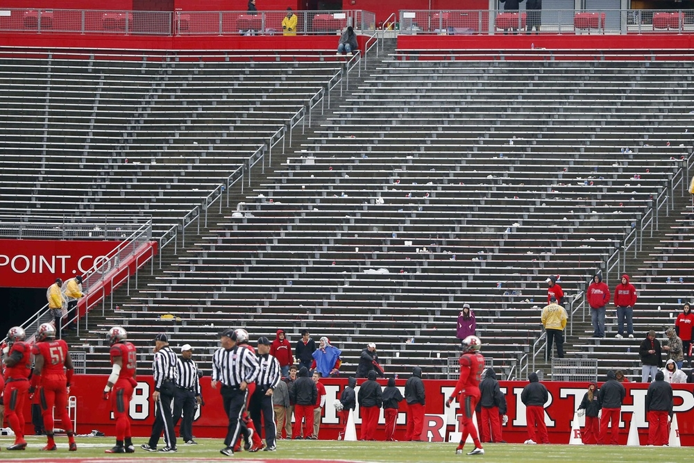 I can't blame the Rutgers student section for emptying during an embarrassing blowout. Ya seen one Rutgers loss, you've seen 'em all. And there's been quite a lot to see.