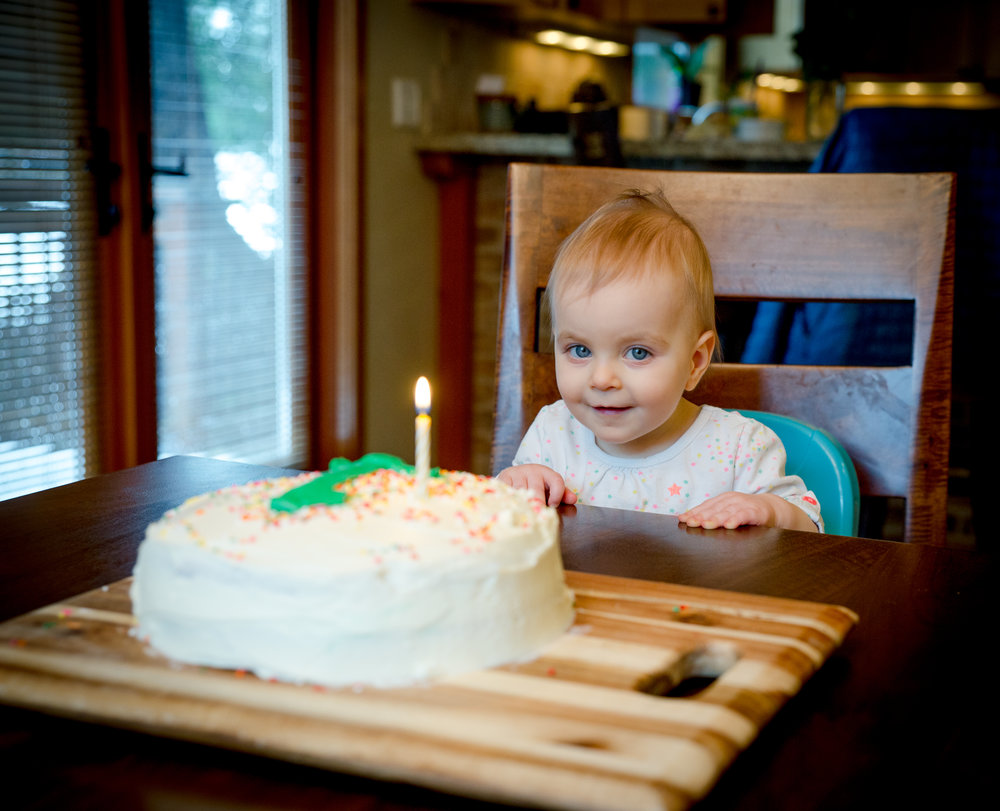 February- we celebrate a year with this one, who, as it turns out, is a cake-enthusiast.