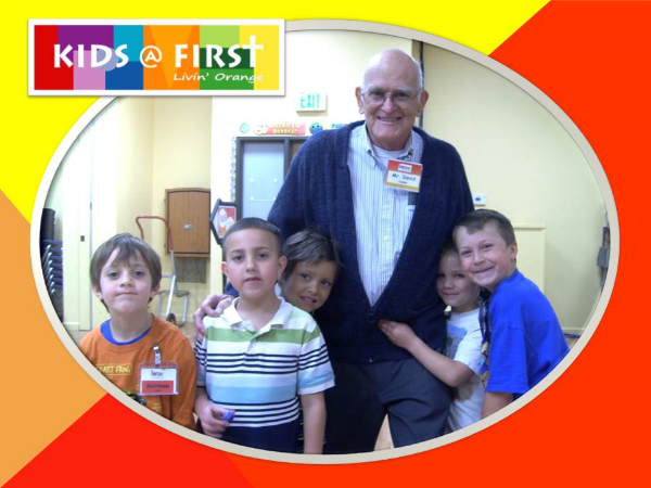 Mr. David with his 1st grade small group
