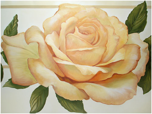 Yellow Rose Mural