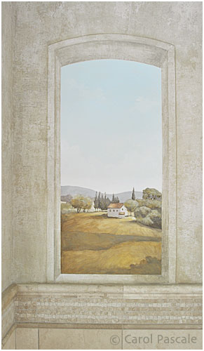 Tuscan Countryside Mural