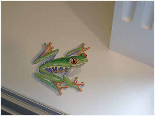 Trompe l'oeil frog